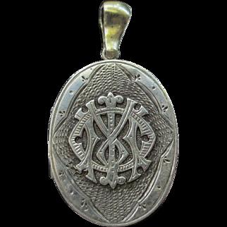 Antique Silver Victorian Locket Pendant