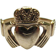 Vintage Galway 9ct Gold Claddagh Ring