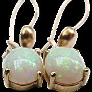 Lovely 14k Gold Vintage Opal Earrings