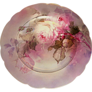 "Signed F B AULICH ""Old Masters"" Limoges Rose Charger/Plate"