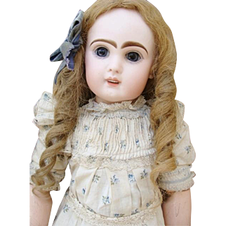 As found nice antique Jumeau Bebe in box.