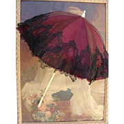 Antique doll umbrella/parasol