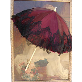 Antique doll umbrella/parasol