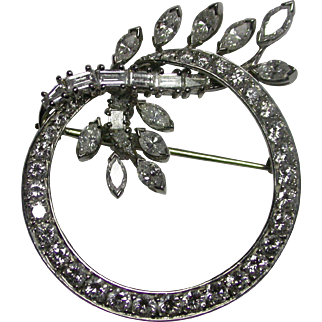 Platinum and Diamonds Circle Brooch