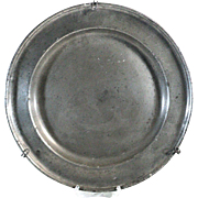 French Antique Pewter Plate