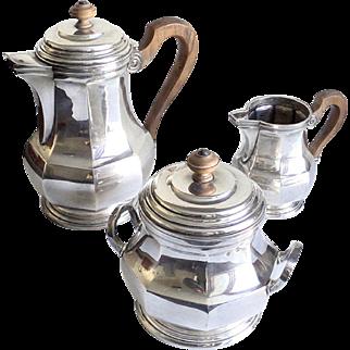 Puiforcat Silver Art Deco Tea Coffee Set