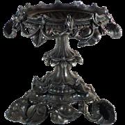 Black  Art Nouveau Oil Lamp Stand