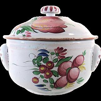 Antique French Soup Tureen from Faienceries de l'Est