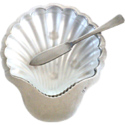 French DF Silver Butter Dish