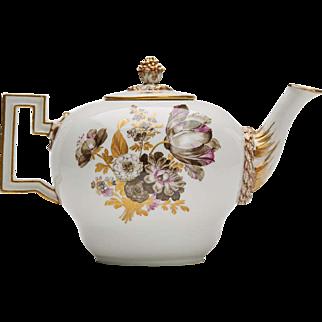 Meissen Marcolini Floral Porcelain Teapot C1800
