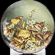 Arts & Crafts Pinder Bourne Floral Charger Signed C.1886