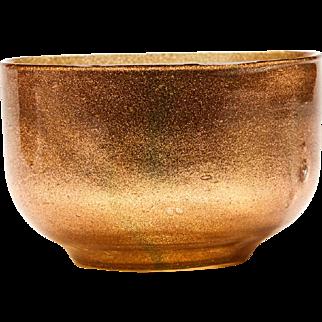 Antique Antonio Salviati Aventurine Glass Bowl C.1900