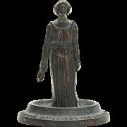 Art Nouveau Bronze Figural Car Mascot On Stand C.1910