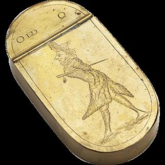 Fine Antique Engraved Old Q William Douglas Snuff Box 18 C.