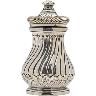Vintage French Christofle Silver Plated Pepper Mill C.1940