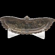 Antique Japanese Meiji Bronzed Moth Shaped Dish 19th C.