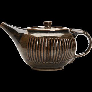 Studio Teapot By Ken Halsall Light Trees Pottery C.1975