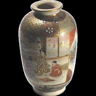 Meiji Japan Antique Satsuma Signed Vase