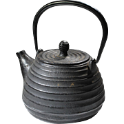 Vintage Chinese Iron Teapot, Signed