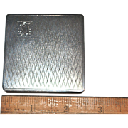 Vintage European Silver Compact with Mirror, Powder Sifter