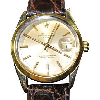 Rolex Men's 1550 Oyster Perpetual Date 18kt Gold and Stainless watch