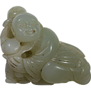 19th Century Jade Carving of Two Children