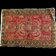 "Stunning Antique Persian Rug Dates Circa 1900, 34""x24"""
