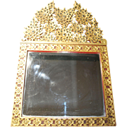 Rare and Beautiful Antique Beveled Glass Mirror from Thailand