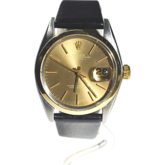 Rolex Vintage 1500 Stainless and 14kt Gold Oyster Perpetual 1968 Mint