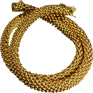 18 Karat Yellow Gold Ladies Necklace