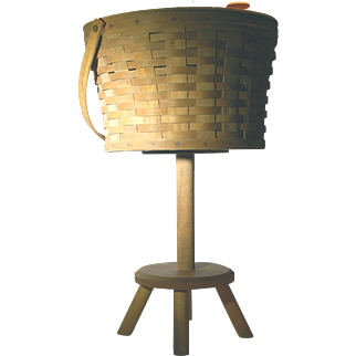 Vintage 1986 Longaberger Sewing Stand and Basket