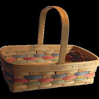 Longaberger 1986 Rare Vintage Signed Small Gathering Basket