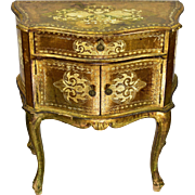 Gold Venetian Florentine Cabinet Side Table Shabby Chic