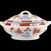 Japanese Porcelain Ware Soup Tureen Imari Style