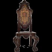 17th Century Spanish Baroque Walnut Hall Chair