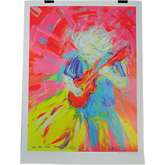 Limited Edition Jerry Garcia Lithograph Gratful Dead Poster Licensed