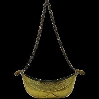 Antique Brass Kashkul Sufi Dervish Begging Bowl Islamic
