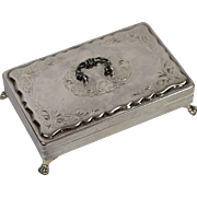Footed Silver Spoon Box or Jewelry Box Van Kempen & Begeer - Red Tag Sale Item