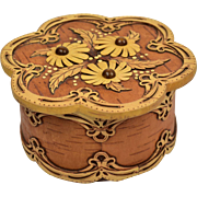 Russian Birch Flower Box from Siberia