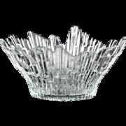 Finnish Vintage Art Glass Humppila Northern Lights Small Bowl..