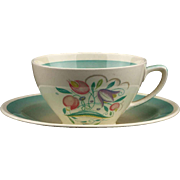 Susie Cooper England Dresden Spray Tea Cup and Saucer..