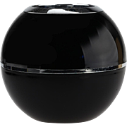 Space Age Black Plastic Black Vase..