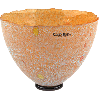 Kosta Boda Bertil Vallien Signed Artist Collection Galaxy Glass Petite Vase..