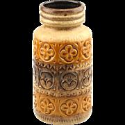 Scheurich Keramik Ceramic Brown West German Pottery Vase..