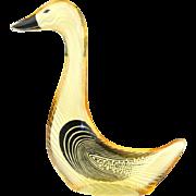 Abraham Palatnik Golden Goose Figurine Lucite Acrylic Sculpture Figurine