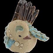 Vintage Mid Century Curt M. Addin Swedish Stoneware Bird..