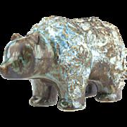 Vintage Mid Century Ego Stengods Lidkōping Swedish Ceramic Bear..