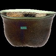 Kosta Boda Bertil Vallien Volcano Glass Bowl Vase, not Signed..