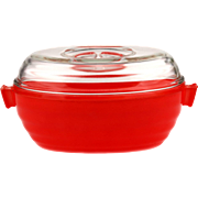 Vintage Phoenix English Pyrex Oval Casserole with Lid - Red..