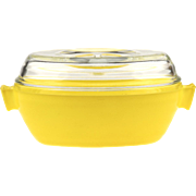 Vintage Phoenix English Pyrex Oval Casserole with Lid - Yellow..